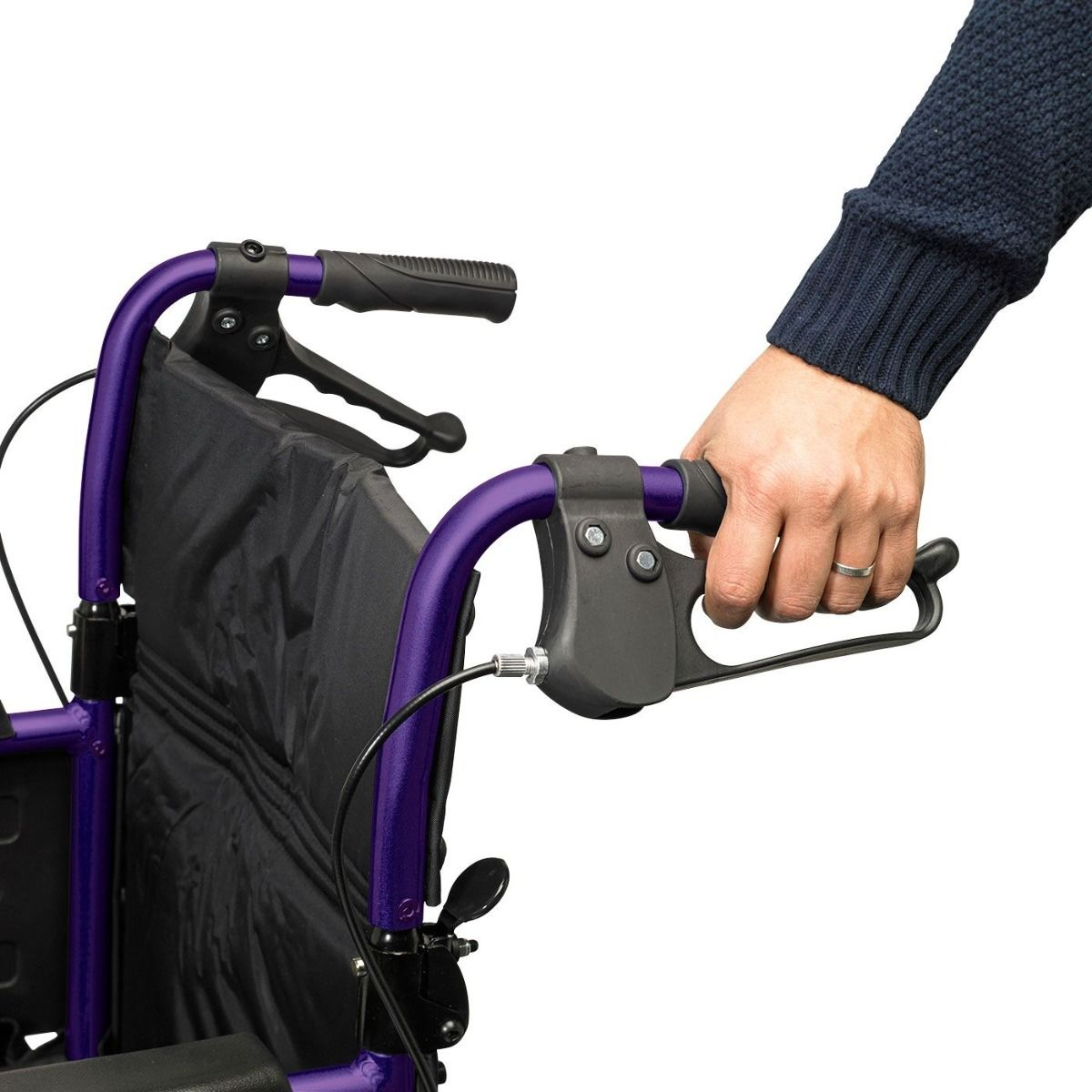 The Days Narrow Width Escape Lite Wheelchair features attendant-operated brakes