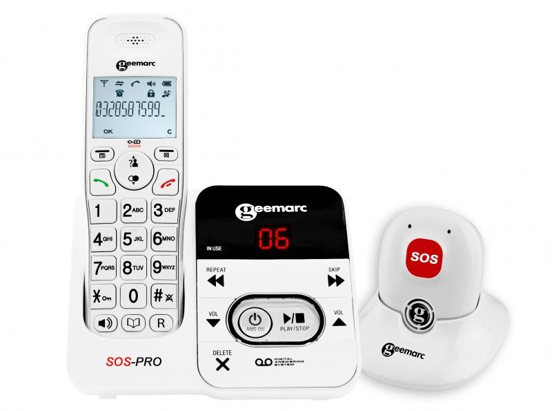 Geemarc AmpliDECT 295 SOS PRO Amplified Cordless Telephone and Pendant
