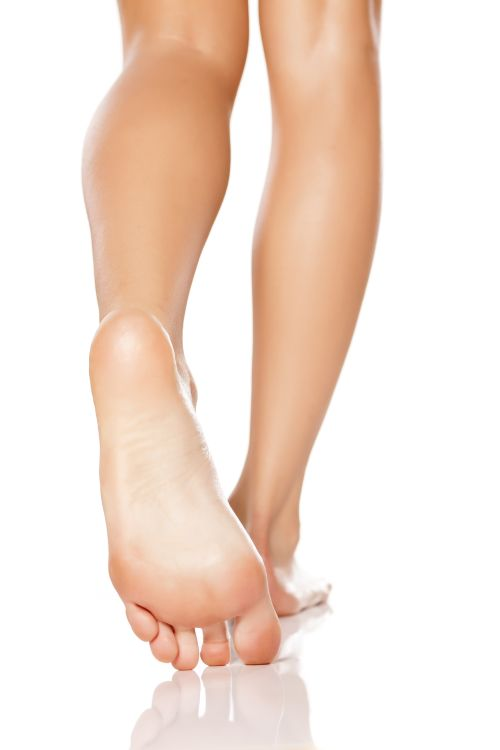 Healthy feet free from cracked heels
