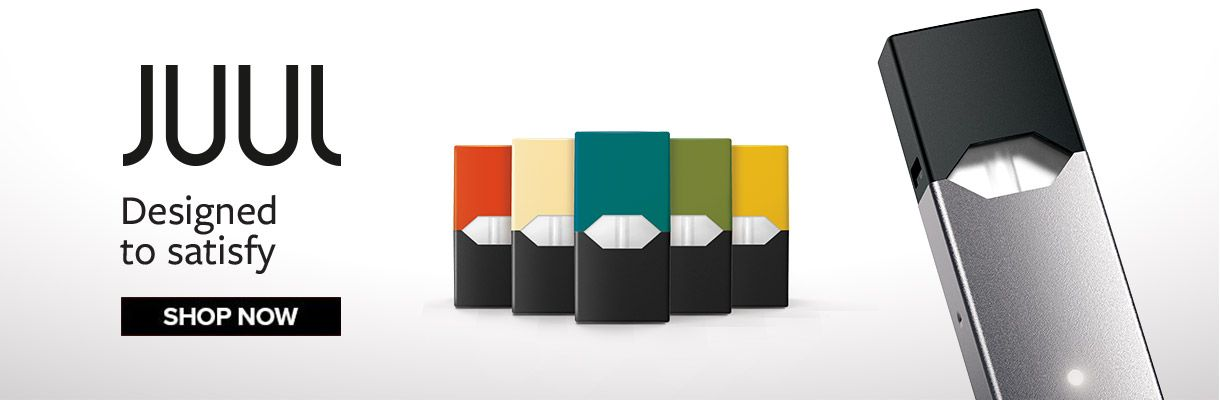 JUUL Vapouriser available with a range of flavours