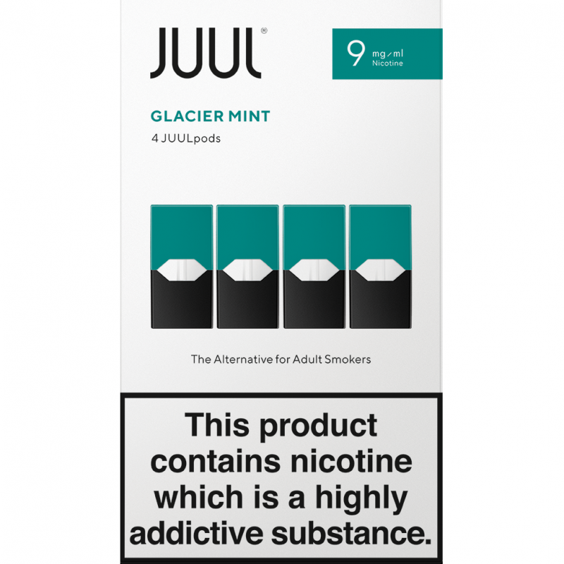 JUUL Glacier Mint JUUL Pods 9mg (Pack of 4 Refill Cartridges)