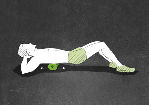 Middle and Lower Back Foam Rolling