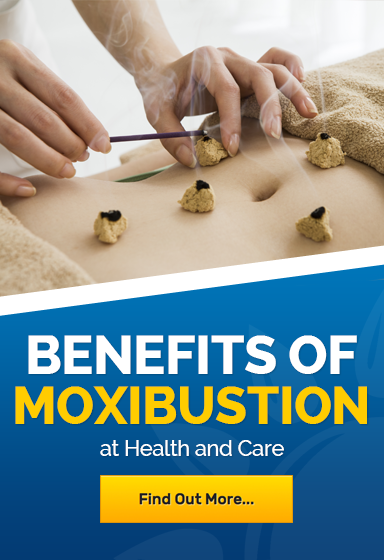 Moxibustion therapy to relieve arthritis pain and digestive problems