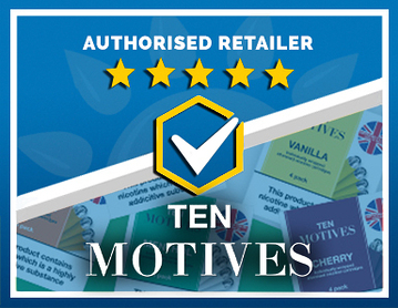 We Are an Authorised Retailer of 10 Motives Products