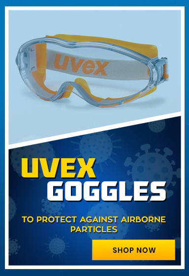 Protect Eyes from Airborne Particles with Uvex Ultrasonic Clear Safety Goggles