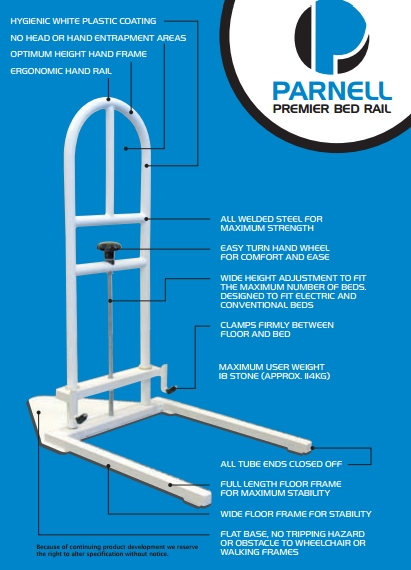 Parnell Premier Bed Rail Sports Supports Mobility
