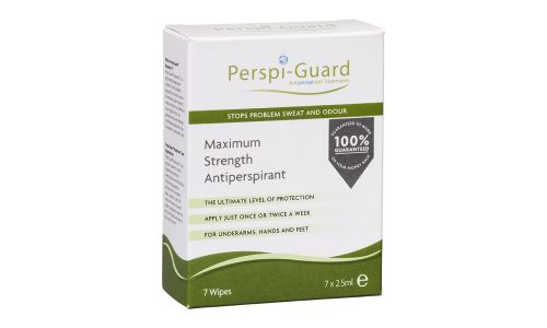 Perspi Guard Maximum Strength Antiperspirant Wipes - Pack of 7