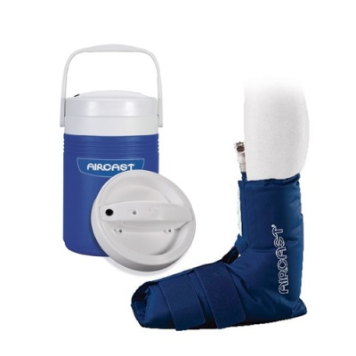 Aircast Cryo Ankle Cuff with Automatic Cold Therapy IC Cooler Unit Saver Pack