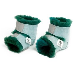 Fleece Heel Protectors - Green