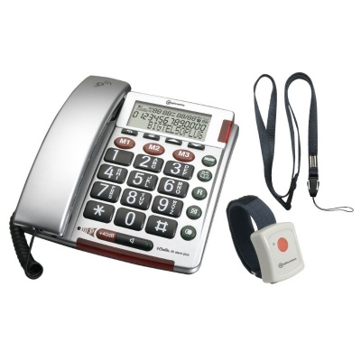 Amplicomms BigTel 50 Alarm Plus Big Button Amplified Corded Telephone