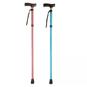 Drive Medical Patterned Folding Walking Sticks (Pack of 12)