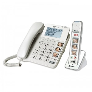 Geemarc AmpliDECT 295 Combi Photo Amplified Corded Desk Phone and Answering Machine