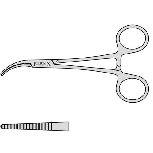 Cushing Curved To One Side Artery Forceps With Box Joint 145mm Curved