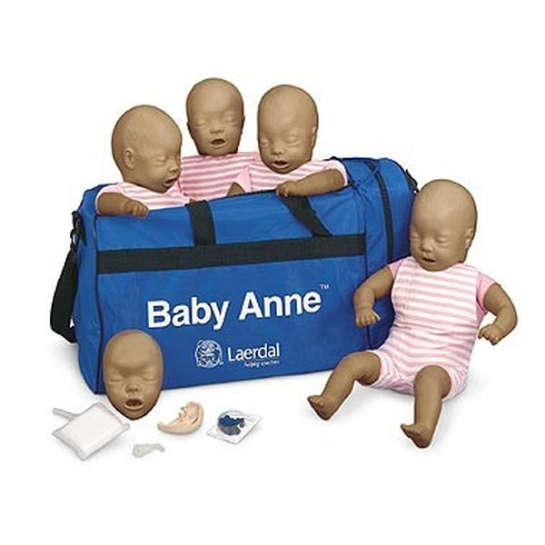 7520870c4e4 Laerdal Baby Anne CPR Mannequins with Dark Skin (Pack of 4 ...