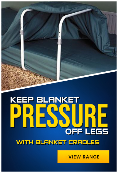 Blanket cradles to keep blankets off legs while lying down