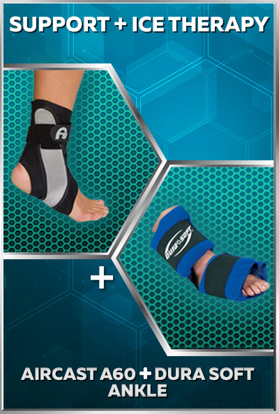 Aircast A60 and Dura Soft Ankle Ice Wrap