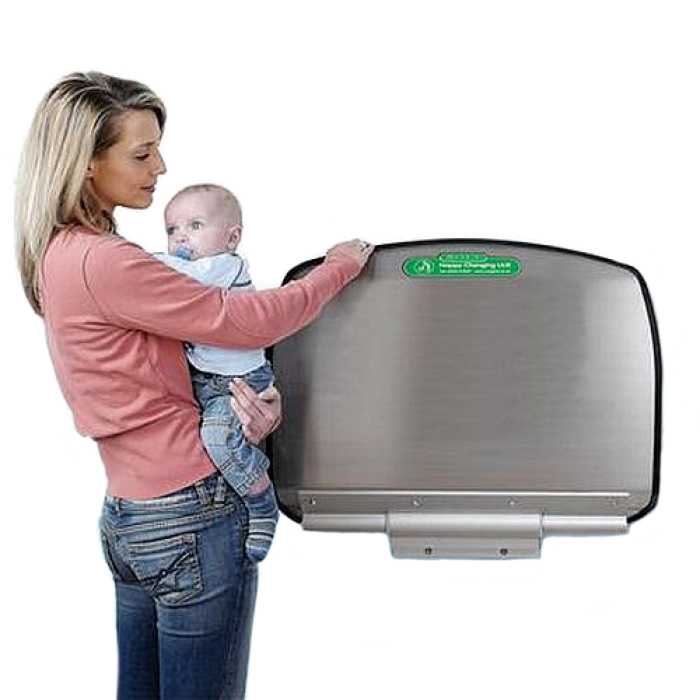 Magrini Stainless Steel Wall Mounted Baby Changing Unit