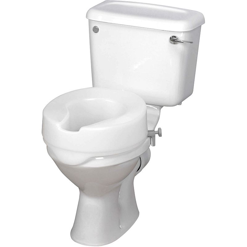 Harvest 100mm Raised Toilet Seat Sports Supports