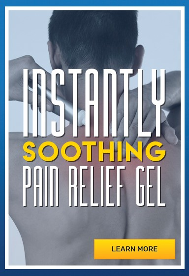 Pain relief gel to soothe stiff and aching muscles