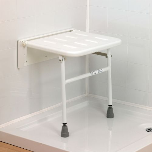 wall mounted shower seat sports supports mobility healthcare products. Black Bedroom Furniture Sets. Home Design Ideas
