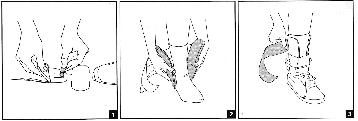 Aircast Air-Stirrup Universe Ankle Brace Fitting Instructions