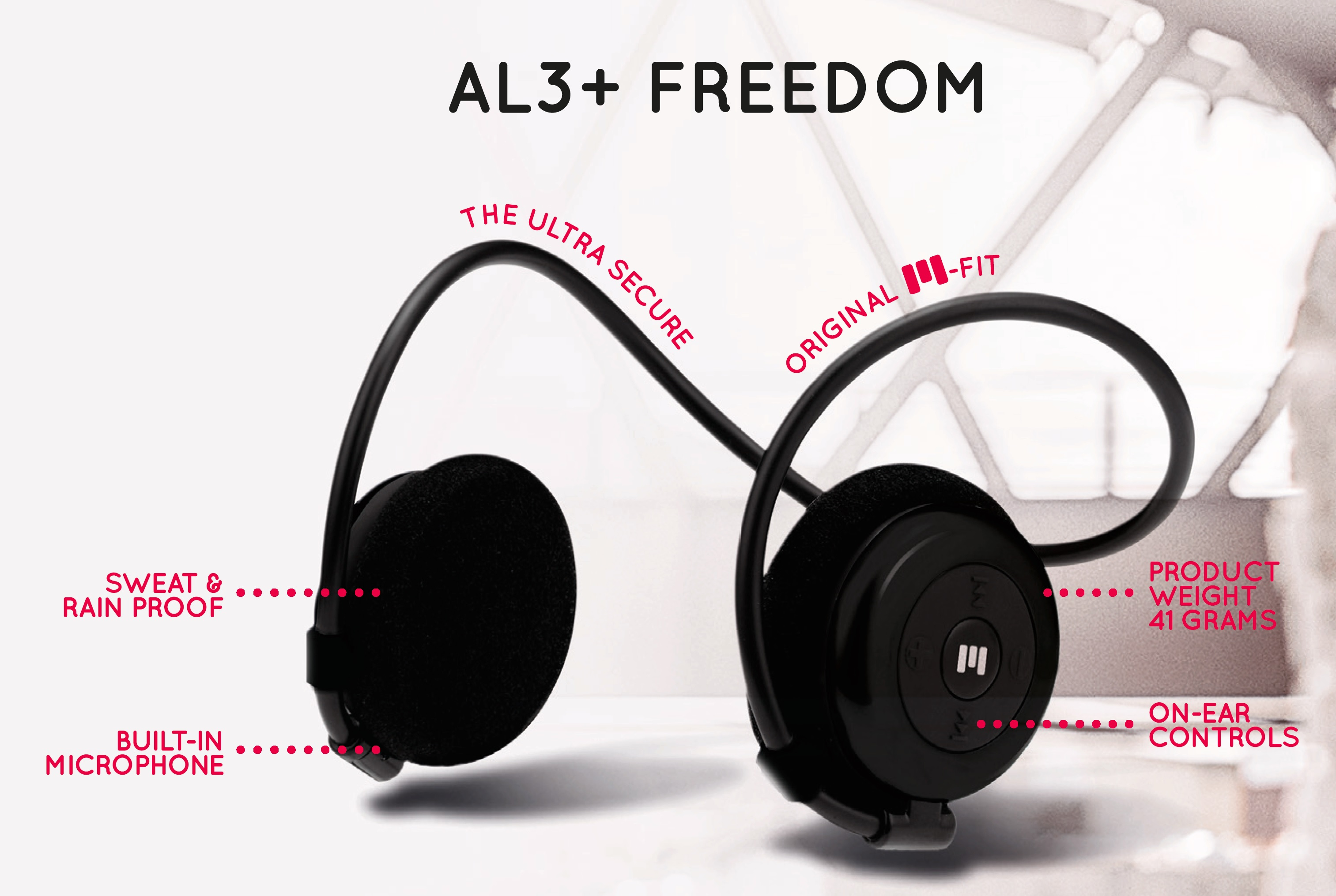 Miiego AL3+ freedom wireless headphones sweat and rain resistant