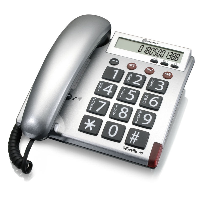 amplicomms bigtel 40 plus  Amplicomms BigTel 48 Big Button Corded Telephone :: Sports Supports ...