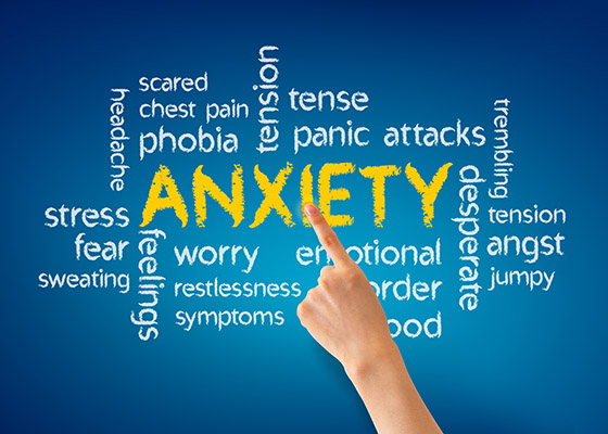 Anxiety disorders come in various shapes and sizes with many different symptooms