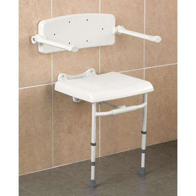 Backrest And Arms For The Savanah Wall Mounted Shower Seat