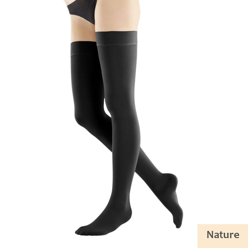 9c2e4d7b0c Bauerfeind VenoTrain Soft Class 2 Thigh High Natural Compression ...