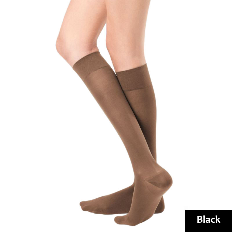 5d0b320a71 Bauerfeind VenoTrain Micro Class 2 Knee High Black Compression ...