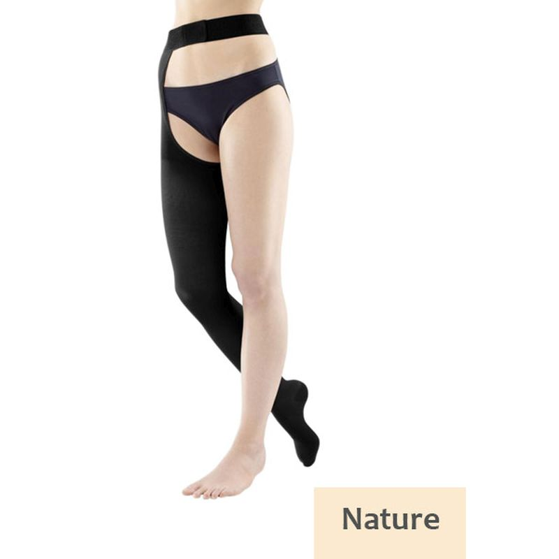 0792a63d1a Bauerfeind VenoTrain Soft Class 1 Thigh High Creme Compression ...