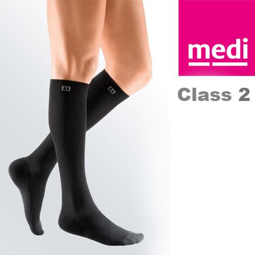97e5e3981ad Medi Mediven Active Class 2 Black Below Knee Compression Socks for ...