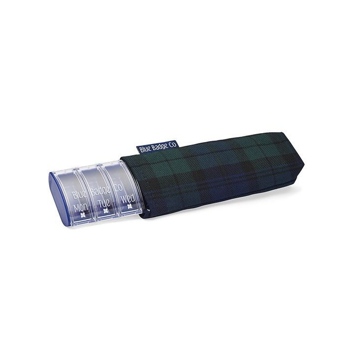 Blue Badge Company Weekly Pill Box and Blackwatch Tartan Carry Case ... 7bd0ae434