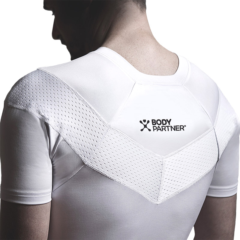 The Body Partner Spine Align Posture T-Shirt discreetly reinforces proper posture under your clothes