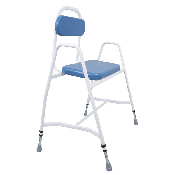 Outstanding Cefndy Super Bariatric Perching Stool With Padded Back Machost Co Dining Chair Design Ideas Machostcouk