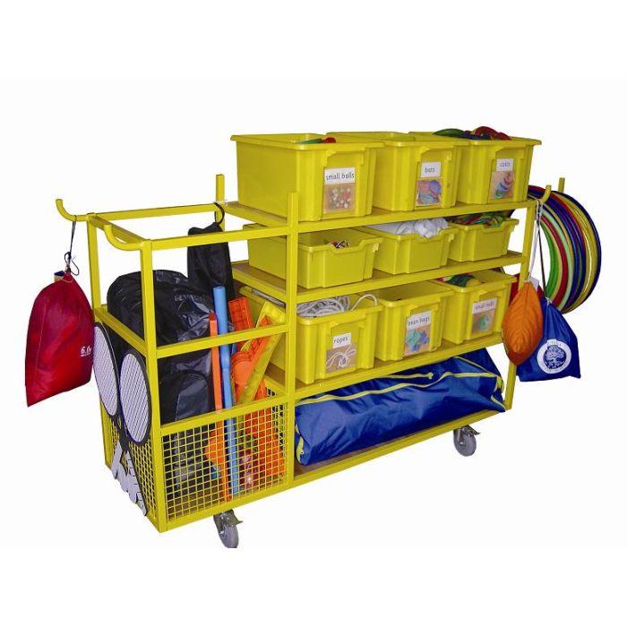 Garage Sports Organizer: Complete School Sports Equipment Storage Trolley