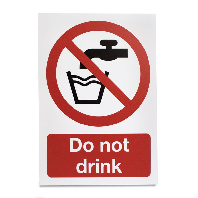 do not drink hazard sign sports supports mobility healthcare