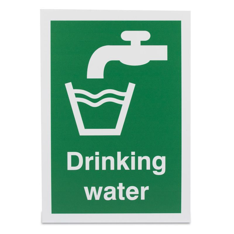 'Drinking Water' Safety Sign | Health and Care
