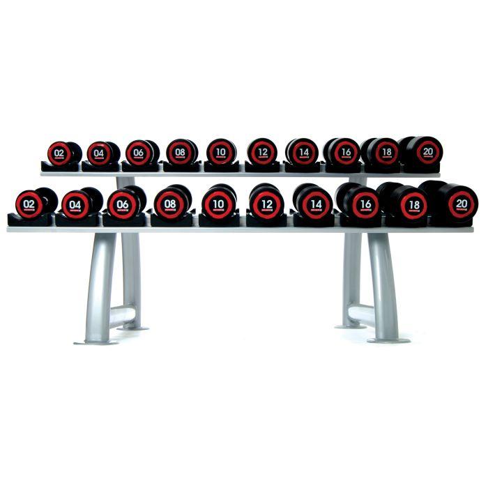 Dumbbell Set With Rack Uk: Escape Fitness Urethane Dumbbell Set (2