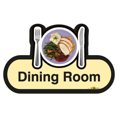 Find Signage Dementia Dining Room Sign Sports Supports