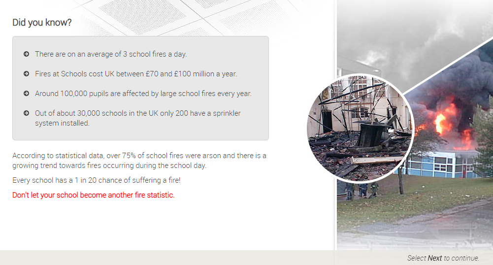 Fire Statistics in UK Schools
