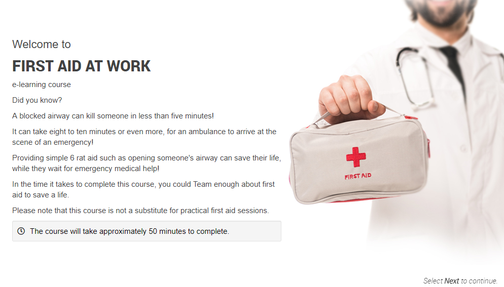 First Aid at Work Introduction