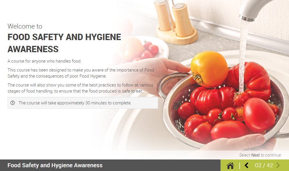 Welcome to the Food Hygiene Online Course