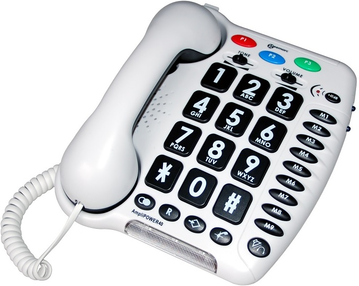 The Amplipower 40 Phone Features Large Keypad Buttons for Easier Use
