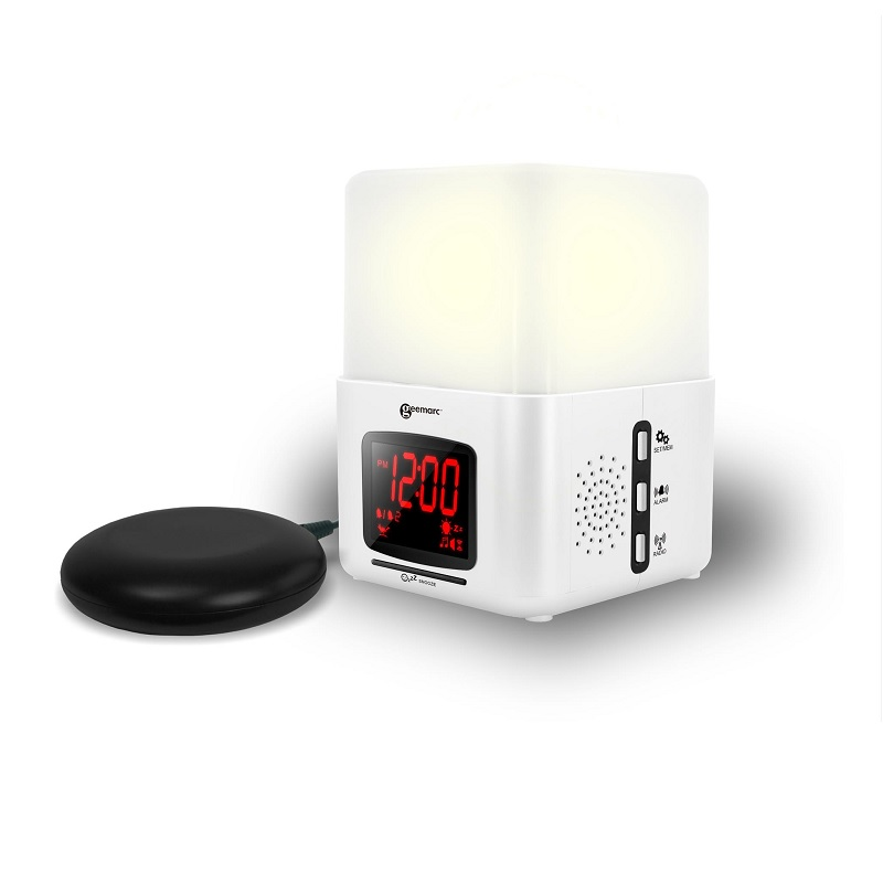 geemarc wake n shake star  Geemarc Wake 'n' Shake Light Vibrating Alarm Clock with Lamp ...