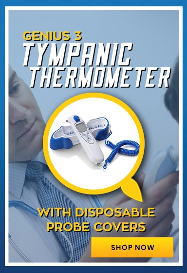 Genius 3 Tympanic Thermometer with Disposable Covers for Hygiene Control