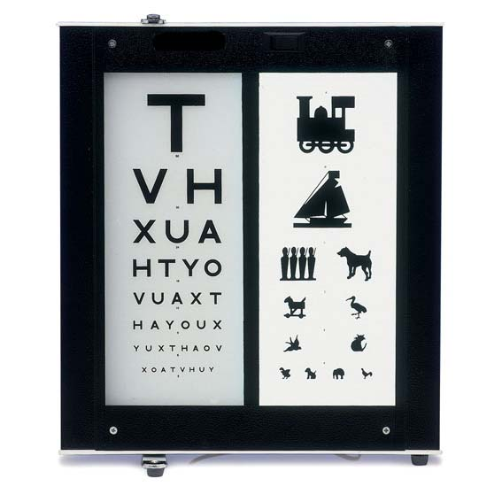 Illuminated Eye Test Chart 3 Metre Distance Sports Supports