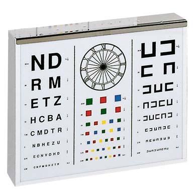 Illuminated Eye Test Chart Adult Sports Supports Mobility