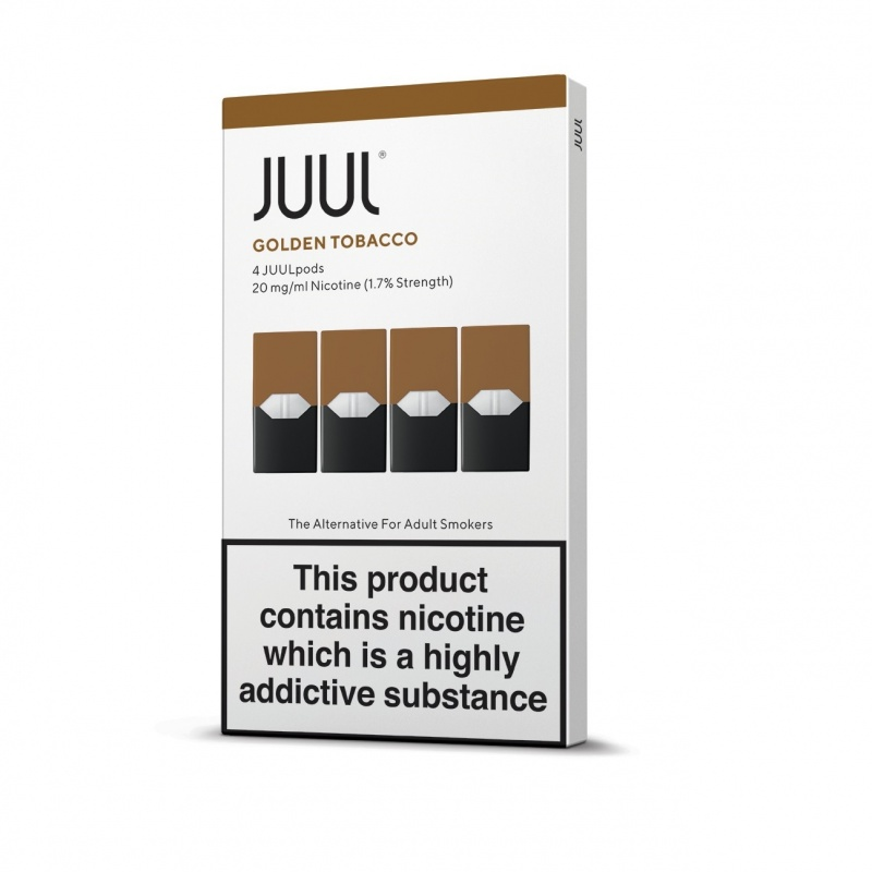 JUUL Golden Tobacco JUUL Pods (Pack of 4 Refill Cartridges)